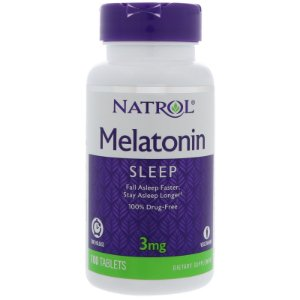 Melatonina Time Release 3mg (100 Tabletes) - Natrol
