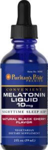 Melatonina 10mg líquida (59ml) - Puritans Pride