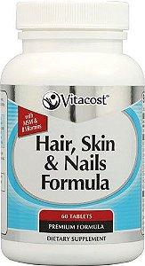 Hair, Skin & Nails (Cabelo, pele e unhas) com MSM 60 Cápsulas - Vitacost