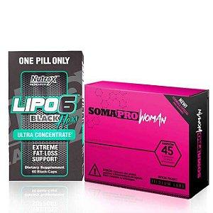 Combo Lipo 6 Black Hers Ultra Concentrado + SomaPro Woman