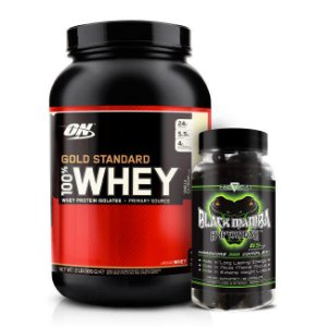Combo 100% Whey Gold Standard 909g Optimum Nutrition + Black Mamba 90 Cápsulas