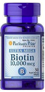 Biotina 10000 mcg (50 Cápsulas) - Puritan's Pride