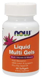 Multivitamínico Liquid Multi Gels 60 Cápsulas - Now Foods