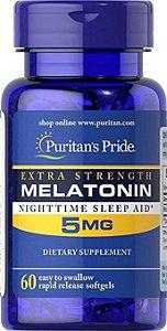 Melatonina 5mg Liberação Rápida 60 Cápsulas - Puritan's Pride
