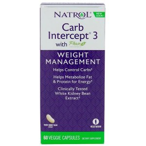 Bloqueador de Carboidratos Carb Intercept 3 (60 Cápsulas) - Natrol