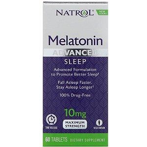 Melatonina 10mg Força Máxima Liberação Rápida e Gradual (60 Tabs) - Natrol
