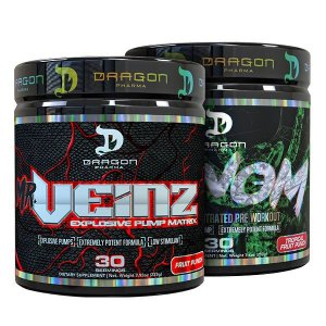 Combo PUMP Mr. Veinz e Venom - Dragon Pharma