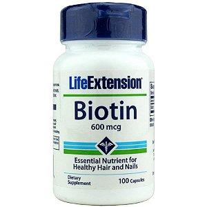 Biotina 600mcg 100 Cápsulas - Life Extension