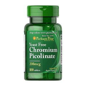 Picolinato de Cromo 200mcg 100 Tabletes - Puritans Pride
