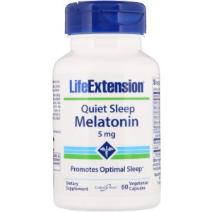 Melatonina Quiet Sleep 5mg 60 Cápsulas Life Extension