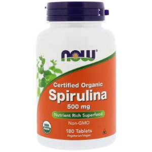 Spirulina 500mg 180 Cápsulas Now Foods