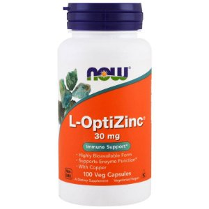 L-Optizinc 30mg 100 Caps Now Foods