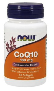 Coenzima Q10 100mg 50 Sofgels Now Foods