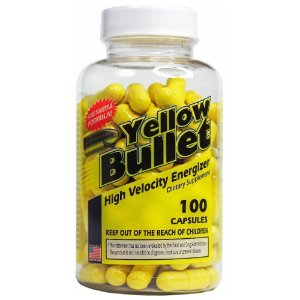 Yellow Bullet 100 Caps Hard Rock Supplements