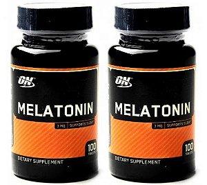 Kit 2 Melatonina ON 3mg 100 Cápsulas Optimum Nutrition