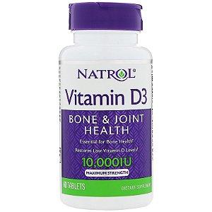 Vitamina D3 10.000 ui 60 Tabs Natrol