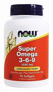 Super Ômega 3-6-9 1200mg 90 caps Now Foods
