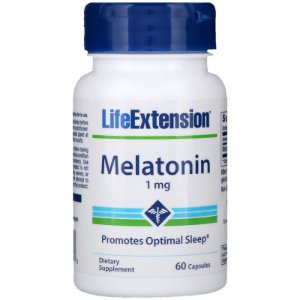 Melatonina 1mg 60 Cápsulas Life Extension