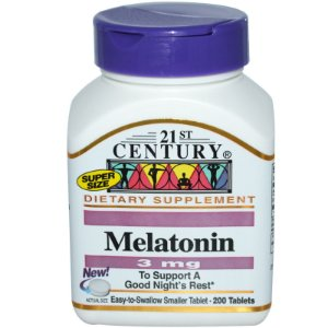 Melatonina 3mg 200 Tabletes 21st Century