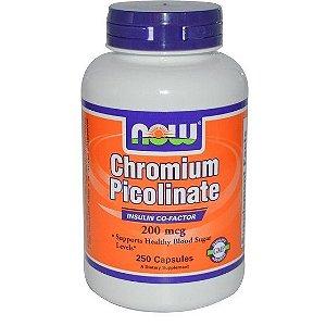 Picolinato De Cromo 200MCG 100 Cápsulas  Now Foods