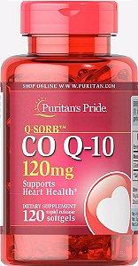 Coenzima Q10 (Coq 10) 120mg 120 Softgels Puritan's Pride