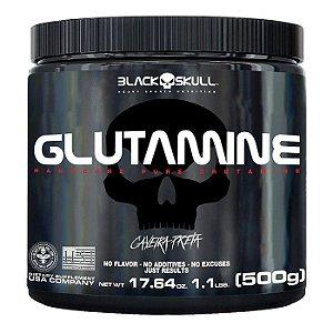 Glutamina Caveira Preta 500g Black Skull