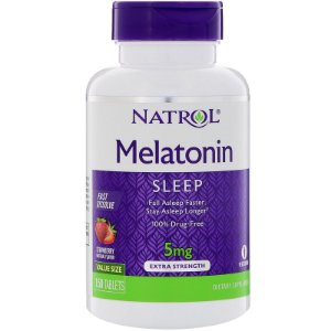 Melatonina 5mg Sublingual Fast Dissolve 150 Tabletes Natrol