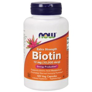 Biotina 10000 mcg (10mg) 120 Cápsulas Now Foods