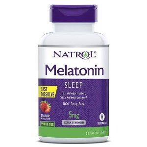 Melatonina 5mg Sublingual Fast Dissolve 250 Tabletes Natrol