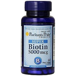 Biotina 5000mcg 60 Caps Puritan's Pride