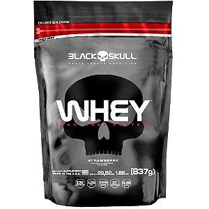 100% Whey Protein Refil 873g Black Skull