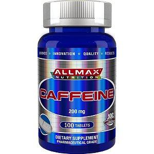 Cafeína Pura 200mg 100 Tabletes Allmax