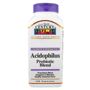Acidophilus Probiotic 150 Cápsulas 21st Century