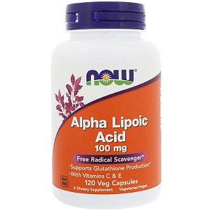Alfa Lipóico Ácido 100mg 120 capsulas Now Foods