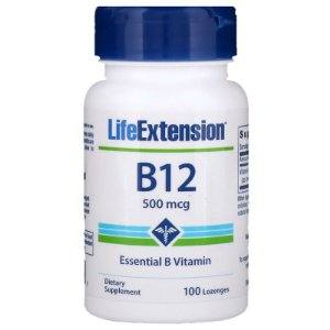 B12 100 Caps 500mcg Life Extension