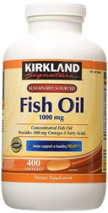 Fish Oil 400 Tabletes Softgels 1000mg Kirkland