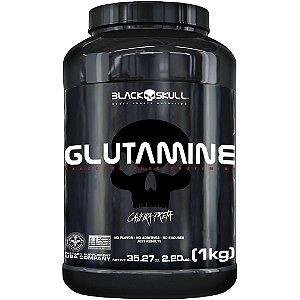Glutamina 1kg Caveira Preta Black Skull