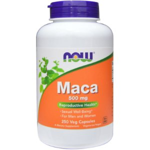 Maca 500mg 250 Cápsulas Now Foods