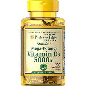 Vitamina D3 5000 ui 200 Caps Puritan's Pride