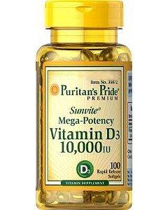 Vitamina D3 10000 ui 100 Caps Puritan's Pride