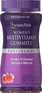 Multivitamínico Women's com Colágeno 50 Gomas Puritan's Pride