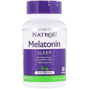 Melatonina 5mg Força Máxima 60 Tabletes Natrol