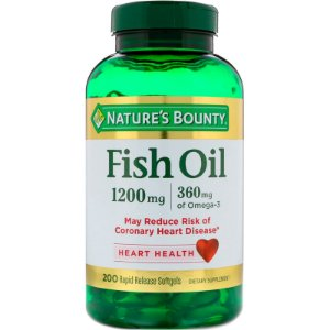 Fish Oil Ômega-3 1200mg 180 Caps Natures Bounty