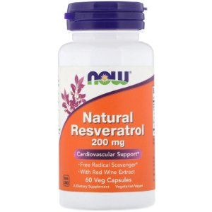 Natural Resveratrol 200mg (60 caps) - Now Foods
