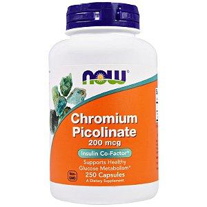 Picolinato De Cromo 200MCG 250 Cápsulas Now Foods