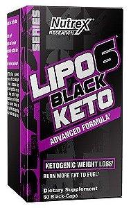 Lipo 6 Black Keto 60 cápsulas Nutrex