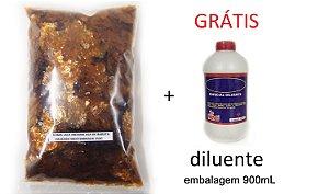 Combo - 1kg Goma laca indiana e ganhe 900ml  Diluente 99º (solvente)