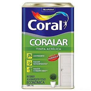 Tinta acrílica para parede Coralar Coral 18l branco fosco