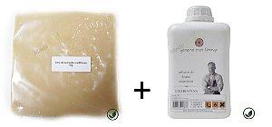 Combo - 1 kg Cera de carnaúba misturada + 1 litro Terebintina (solvente)
