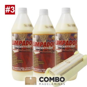 Combo 3 - Promocional - 3 litros Limpador concentrado + 1 passa cera